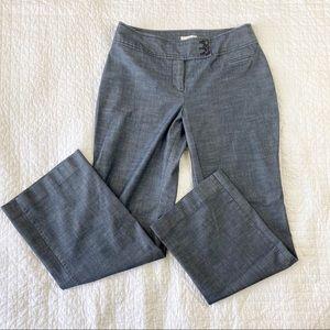 Ann Taylor Loft Heathered Denim Trouser Pants 6